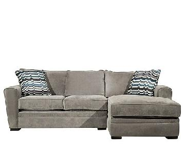 Raymour & Flanigan Artemis II Grey Sectional Sofa w/ Chaise