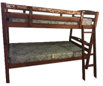 Bob's Twin Size Bunk Over Bunk Bed
