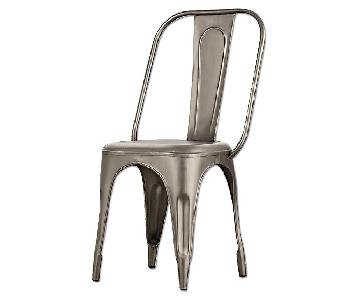 Restoration Hardware Remy Side Chair in Gunmetal Gray