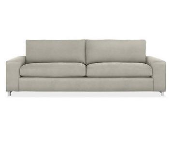 Room & Board Klein Grey Fabric Sofa
