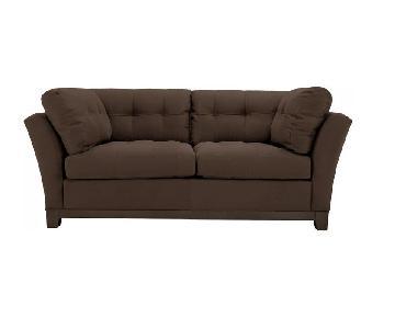 Raymour & Flanigan Microfiber Queen Sleeper Sofa