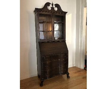 Hathaway Furniture Vintage Secretary Desk w/ Hutch