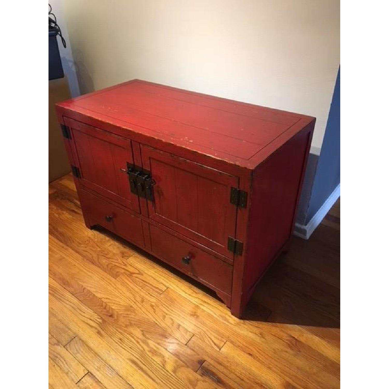 ... Crate U0026 Barrel Red Media Cabinet 0 ...