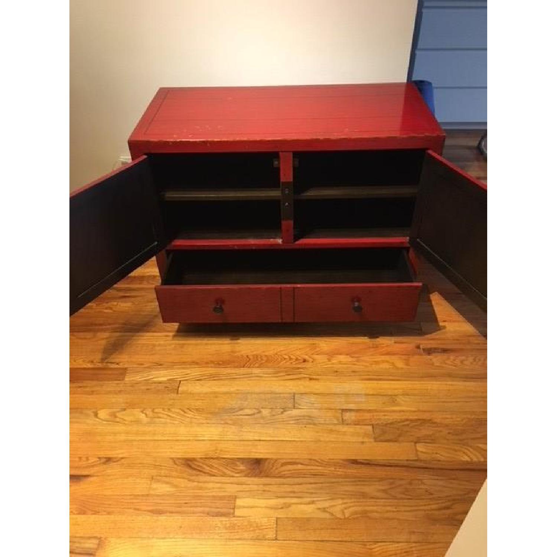 ... Crate U0026 Barrel Red Media Cabinet 1 ...