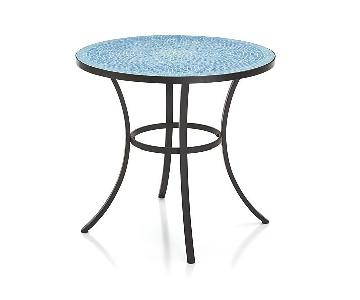 Crate & Barrel Mosaic Blue Bistro Table
