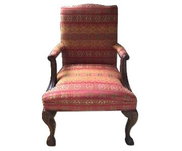 Sam Moore Indian Sunset Claw Leg Accent Chair