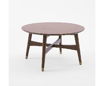 West Elm Reeve Mid-Century Coffee Table in Walnut