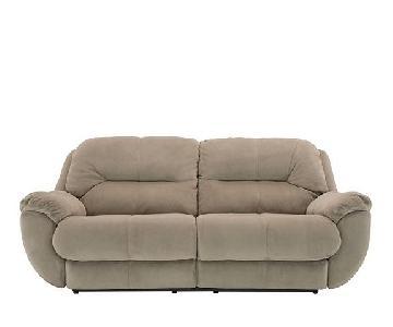 Raymour & Flanigan Quinn Microfiber Reclining Sofa