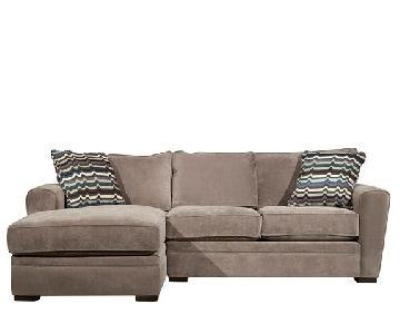 Raymour & Flanigan Artemis 2-Piece Microfiber Sectional Sofa