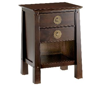 Pier 1 Shanghai Distressed Espresso Wood Nightstand
