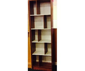 Brown Oak Bookcase
