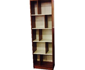 Brown Oak Bookcase