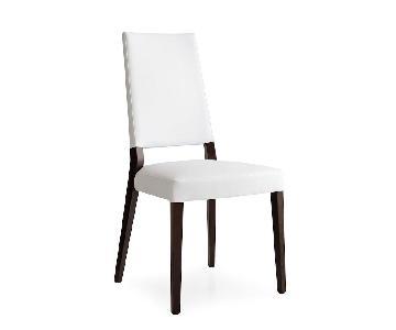 Calligaris Sandy Chair in White Vinyl