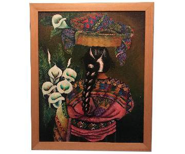 Oil Painting - Guatemalan Woman w/ Braid