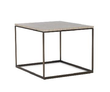 Mitchell Gold + Bob Williams Allure Side Table in Dark Brown