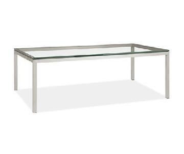 Room & Board Portica Glass Cocktail Table