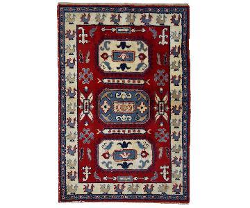 Vintage 1970 Caucasian Kazak Rug