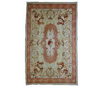 Antique 1860s French Aubusson Napoleon the 3rd Rug