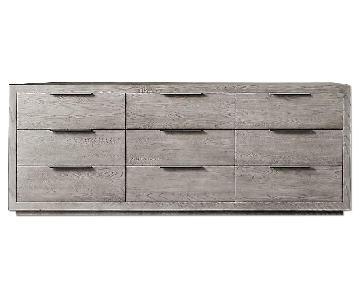 Restoration Hardware Machinto 9-Drawer Dresser in Grey Oak