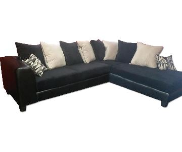 Black 2-Piece Sectional Couch