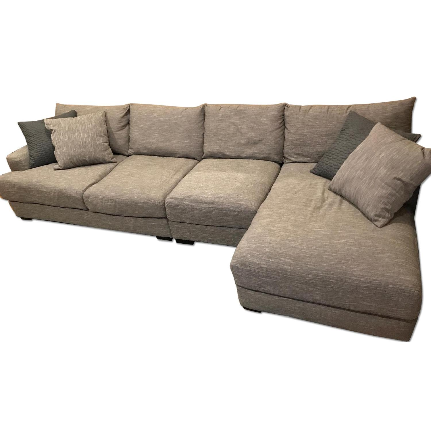 Raymour & Flanigan Leighton 3 Piece Chaise Sectional Sofa