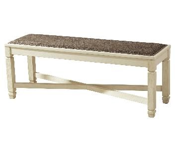 Ashley Bolanburg Large Dining Bench in White/Oak