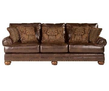 Ashley Chaling DuraBlend Sofa in Antique