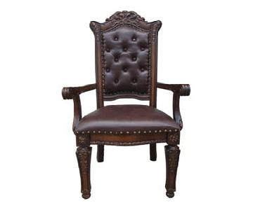 Acme Vendome Cherry Finish Arm Chair