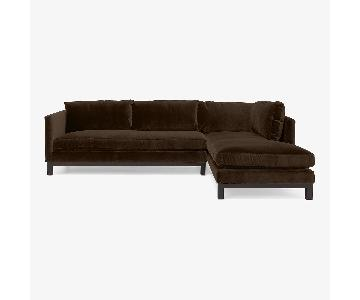 ABC Carpet & Home Cobble Hill Prescott Velvet Sectional Sofa