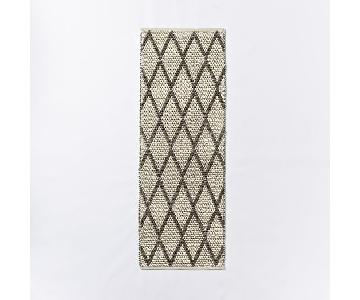 West Elm Knotted Diamonds Wool Hallway Rug