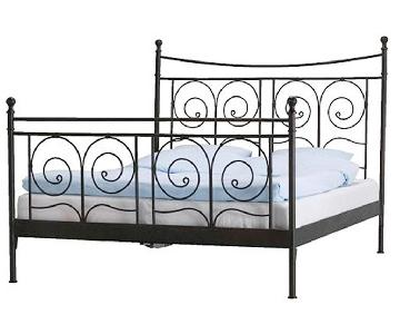 Ikea Black Iron Full Size Bed Frame