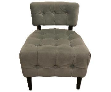 Pier 1 Teal Button Tufted Chair