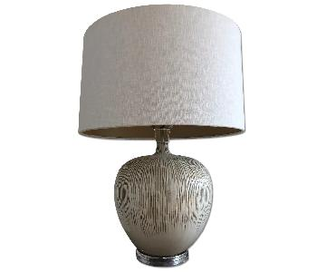 France & Sons White Table Lamp