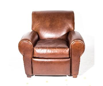 Pottery Barn by Mitchell Gold Leather Arm Chair