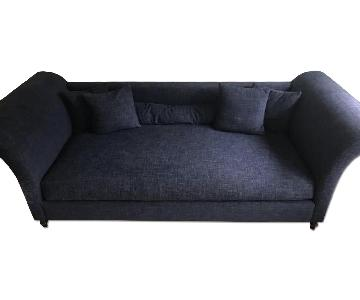 Custom Built Blue Upholstered Daybed