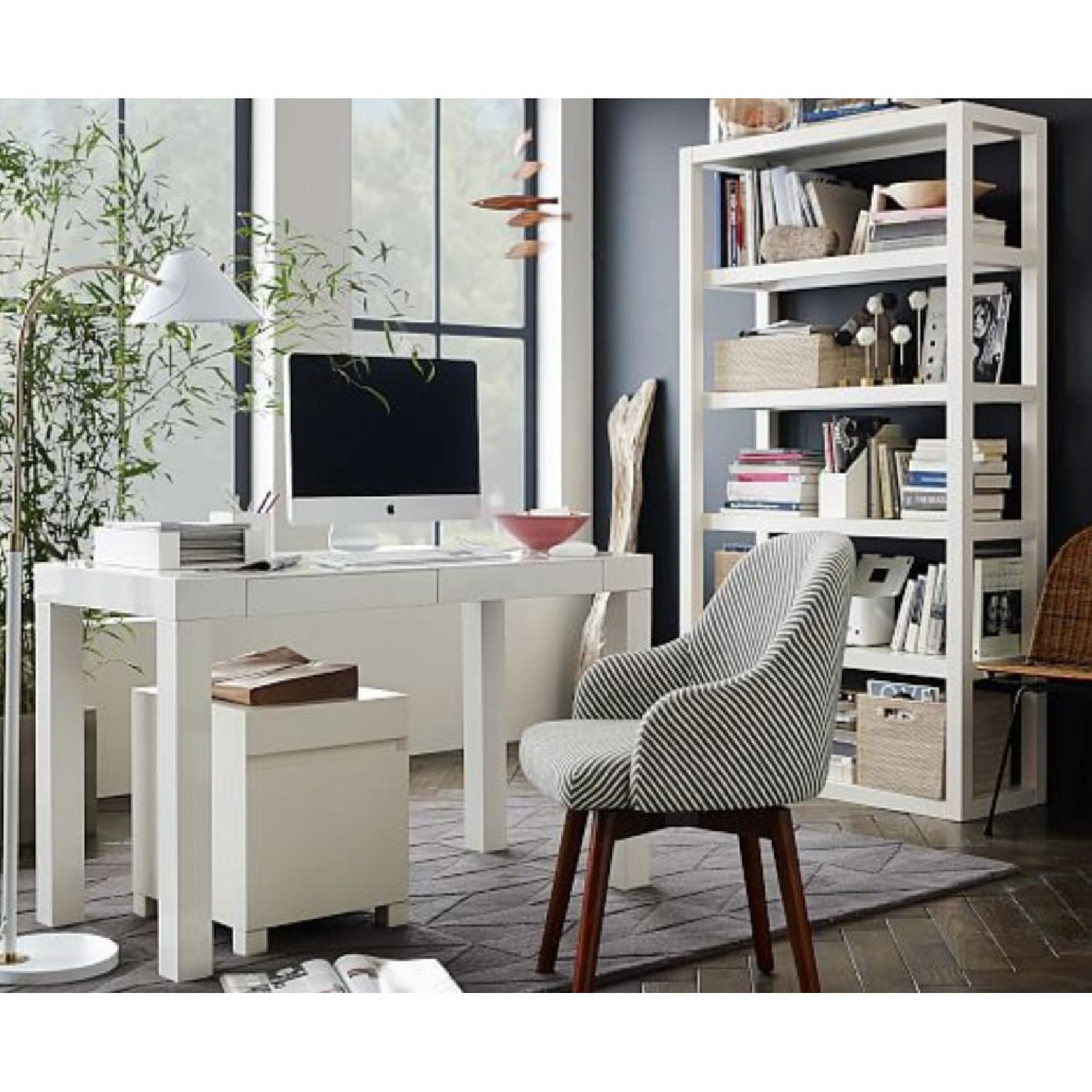 West Elm Parsons Desk In White Aptdeco