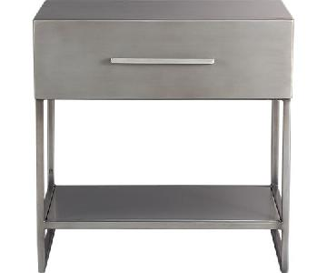 CB2 Proof Metal Nightstand