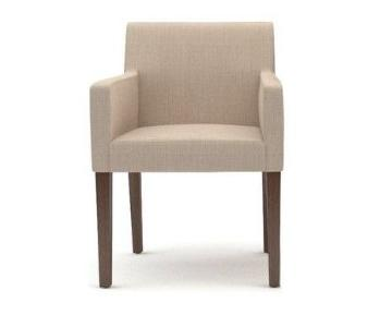 Crate & Barrel Lowe Dining Arm Chair
