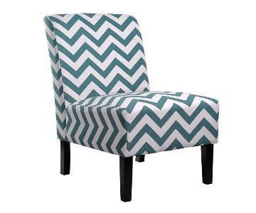 White Chevron Accent Chair