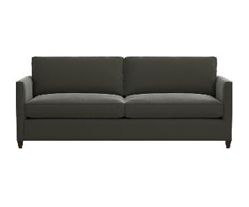 Crate & Barrel Modern Velvet Sofa
