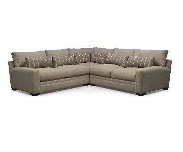 American Signature Kroehler Ventura 3 Piece Sectional Couch
