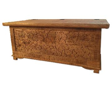 Indian Inspired Wood Trunk