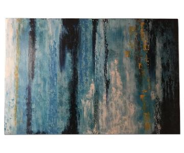 Z Gallerie Blue/Gold Abstract Wall Art
