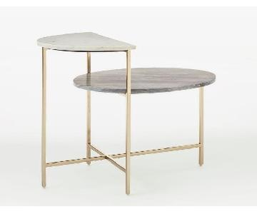 West Elm Marble Geo Stepped Side Table