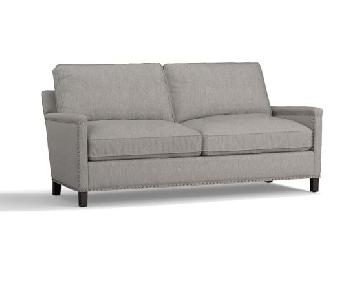 Pottery Barn Grey Upholstered Sofa