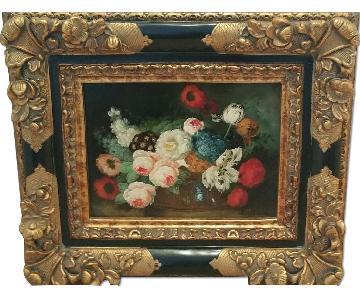 Still Life Oil Painting in Black & Gold Frame