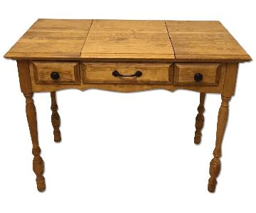 Good Wood Store Hand-Stained Writing Desk w/ Mirror