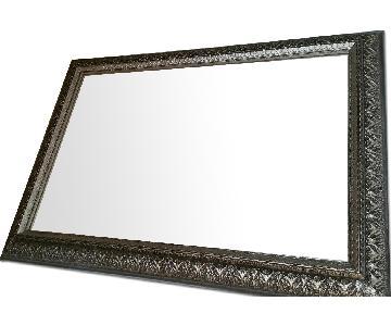 Silver Frame Rectangular Mirror