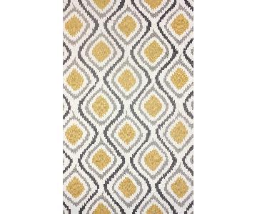 nuLOOM Handmade Modern Ikat Trellis Sunflower Yellow Rug