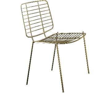Acme Rianne Gold Metal Side/Dining Chair